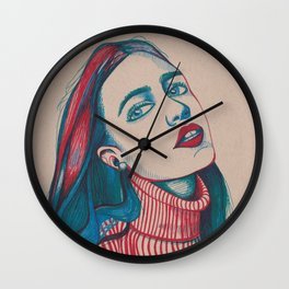 Colours as she sighs Wall Clock