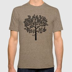 Tree Graphic 2 MEDIUM Mens Fitted Tee Tri-Coffee