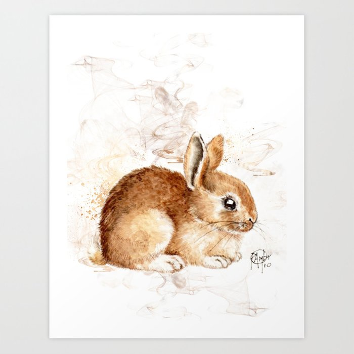 Sunday's Society6 | Little bunny art print