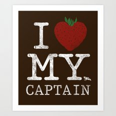 I Love My Captain Art Print