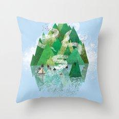Mysterious Island Throw Pillow