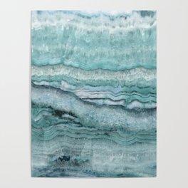 Mystic Stone Aqua Teal Poster