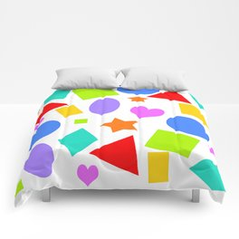Shapes and Colors Comforters