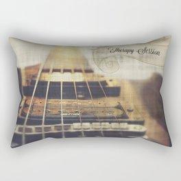 Therapy Session Guitar Rectangular Pillow