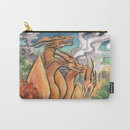 Three Headed Chrysanthemum Dragon Carry-All Pouch