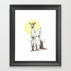 Doe Tree Framed Art Print