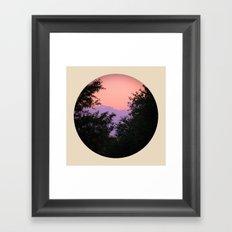 Clouds As Mountains Circular Framed Art Print