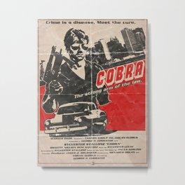 COBRA - George Pan Cosmatos Metal Print