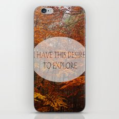 I Have the Desire to Explore Inspirational Color Photo iPhone & iPod Skin