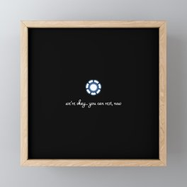 you can rest now Framed Mini Art Print