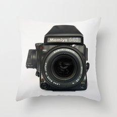 Classic chemicol retro camera. Midium format camera Throw Pillow