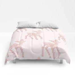 Little deer/fawn cross stitch pattern in pink Comforters