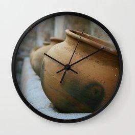 Tumacacori Pots fine art photography Wall Clock