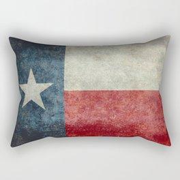 Texas state flag, Vertical retro vintage Rectangular Pillow