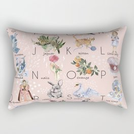 English alphabet for girls Rectangular Pillow