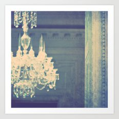 it's not meant to be. chandelier photograph Art Print