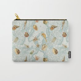 Map with Sea Shells Carry-All Pouch