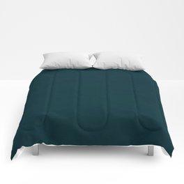 color trend petrol dark blue plain Comforters