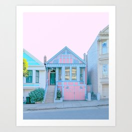 San Francisco Painted Lady Victorian House Art Print