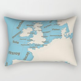 meteorological Shipping forecast. Rectangular Pillow