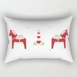 Valentine Dala Horse Rectangular Pillow