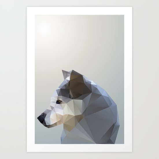 GEO - WINTER FOX Art Print
