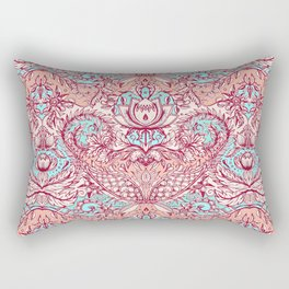 Natural Rhythm - a hand drawn pattern in peach, mint & aqua Rectangular Pillow