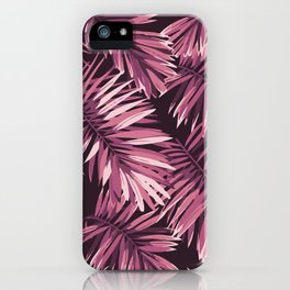 Rose palm leaves iPhone Case