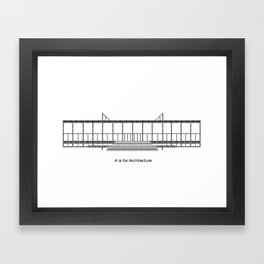 Mies - A is for Architecture Framed Art Print