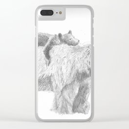 Mama and Cub Clear iPhone Case
