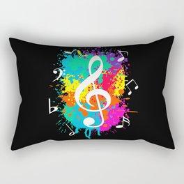Music grunge Rectangular Pillow