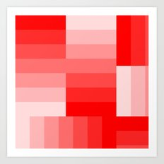 Shades of Red Gradient Art Print