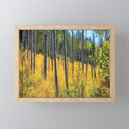 Northern Arizona Autumn Woods by Reay of Light Photography Framed Mini Art Print