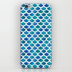 Blue Mermaid Scales iPhone & iPod Skin