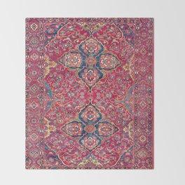 Bakhtiari West Persian Rug Print Throw Blanket