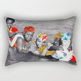 Water Nymphs (collboration .dotbox) Rectangular Pillow