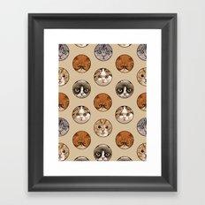 Polka Meaw Framed Art Print