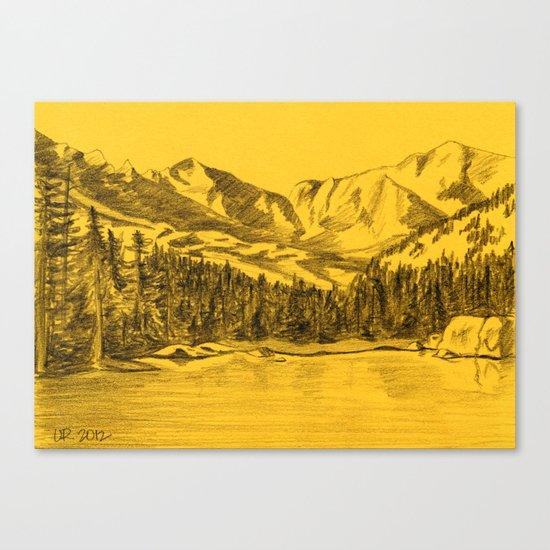 Yellow Rocky Mountains Canvas Print