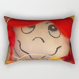 Saucy Suzy Scarecrow Rectangular Pillow