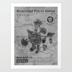 Specialist Patrol Armor (Stone) Art Print