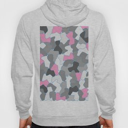 Stone Wall Drawing #2 Pink Hoody