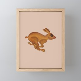 See Bunny Run Framed Mini Art Print