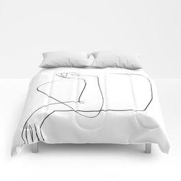 line art crossed arms Comforters