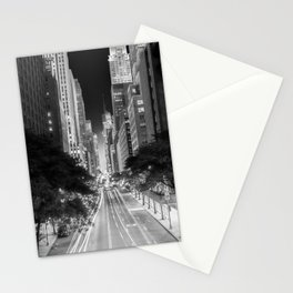 42nd street Manhattan at dawn Stationery Cards