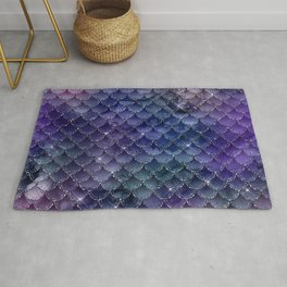 Mermaid Scales Ombre Glitter 3 Rug