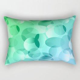 Green and Blue Layered Gradient Ovals! Rectangular Pillow