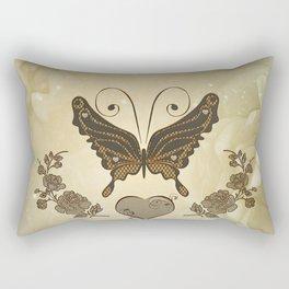 Beautiful elegant butterflies with heart Rectangular Pillow