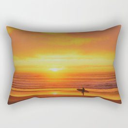 The Love Between a Guy and His Surf Board by Reay of Light Rectangular Pillow
