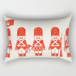 English Army, drawing with letterpress effect, inspired in toy soldiers. Rectangular Pillow
