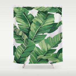 Tropical banana leaves VI Shower Curtain